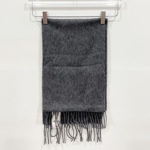 Charter Club Cashmere Fringe Scarf Unisex Charcoal Soft Winter One Size